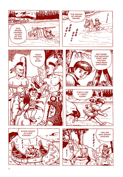 The Last of the Mohicans book page.