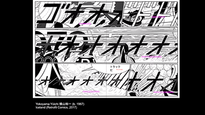 Manga Translation as Typographic Voice Acting talk video still.